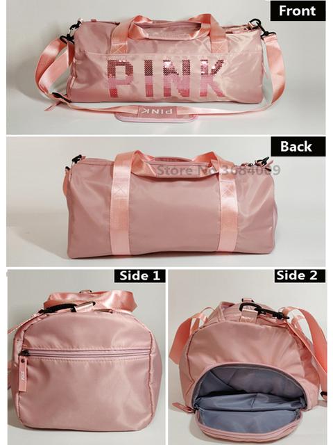 2018 Cheap Sequins Black Gym Bag Women Shoe Compartment Waterproof Sport Bags for Fitness Training Yoga Bolsa Sac De Sport