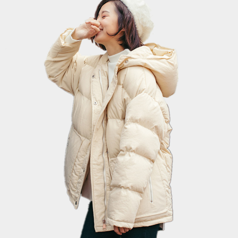 Hooded Warm Short Oversized Loose Winter Coat Solid Color Short Parka Femme Casual Thick Jacket Women Cotton Padded Parka TT3471 winter jacket women pregnant oversized coats thick long parka hooded loose outwear cotton winter coat women manteau femme c3811
