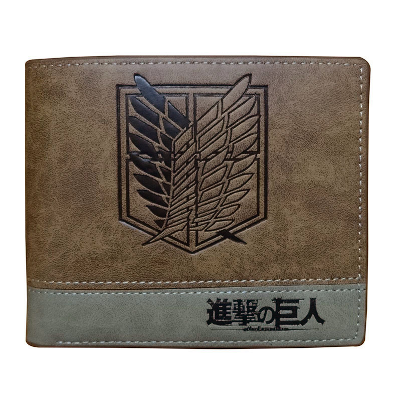 Anime Attack on Titan Men Wallets PU Leather Cartoon Short Purse with Zipper Coin Pocket Gifts Teenager Dollar Price Wallet cartoon japan anime one piece luffy wallet with money coin pocket zipper leather pu purse
