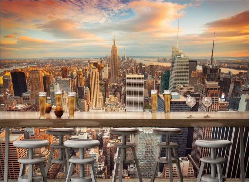 Popular cityscape wall murals buy cheap cityscape wall for High end wallpaper