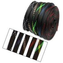10 м 10 мм провод кабельный рукав плотный ПЭТ нейлоновая оплетка змеиная сетка шок расширяемый 150% провода сальник кабель Защита