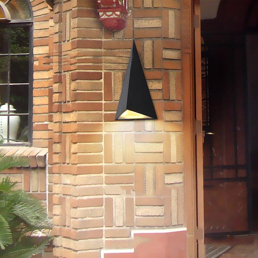 Thrisdar 9W Led Wall Lamp Triangle Waterproof Wall Light Fixture Villa Garden Courtyard Aisle Balcony Porch Light in Outdoor Wall Lamps from Lights Lighting