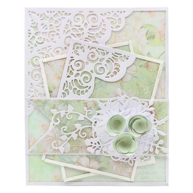 KSCRAFT Flower Corner Metal Cutting Dies Stencils for DIY Scrapbooking/photo album Decorative Embossing DIY Cards