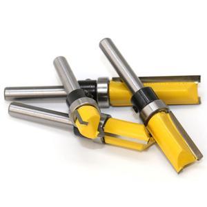 Image 4 - 8 мм хвостовик шаблон отделка шарнир отрезание фрезы прямой конец мельница триммер для очистки промывки тенон фрезы для деревообработки