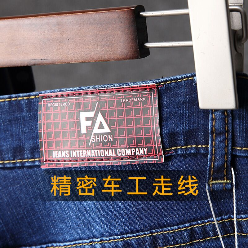 Kowaunkeenly 2018 new arrival High quality mens Brand jeans,Fashion Spray Paint blue Jeans Pencil Pants men,size 28-38