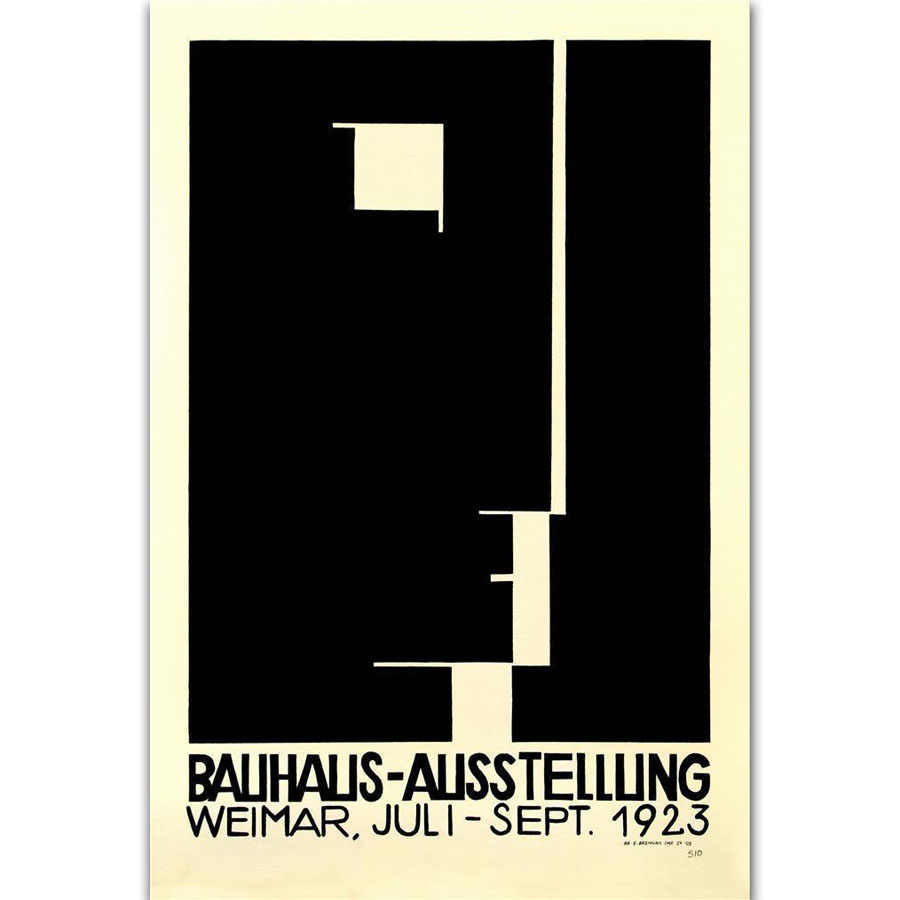 FX2360 Bauhaus Ausstellung 1923 Weimer Exhibition Claccic Movie Poster Art Silk Light Canvas Home Room Wall Printing Decor