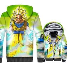 Super Hero Cosplay Jacket Winter Zipper Hoodies Male Streetwear Thick Fleece Tracksuit Dragon Ball Mens Jackets 3D Print Coat