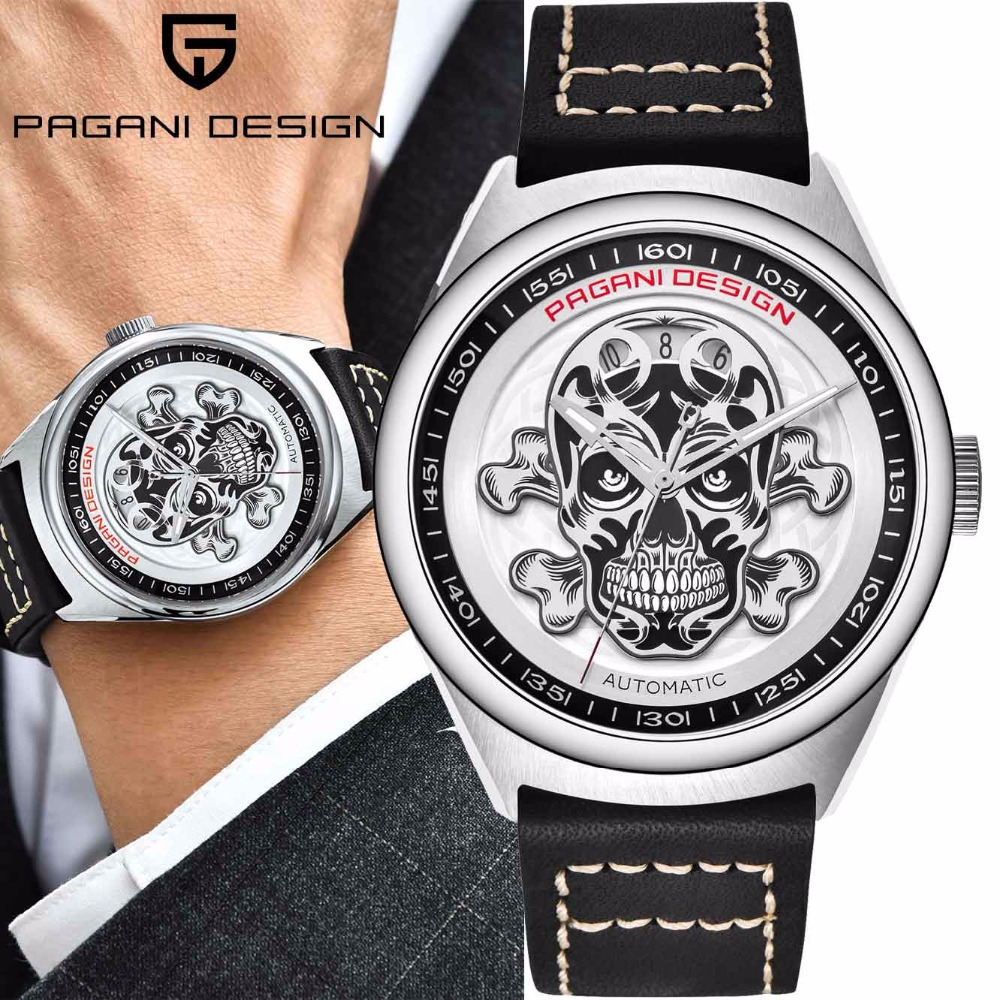 2018 Pagani Top Brand Luxury Skull Watches Male Automatic Mechanical sport Watch Men Steel Leather Wrist Watch Relogio Masculino2018 Pagani Top Brand Luxury Skull Watches Male Automatic Mechanical sport Watch Men Steel Leather Wrist Watch Relogio Masculino