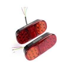 2 X светодио дный 14 LED s трейлер задние фонари левый задний фонарь правый поворот сигнальные огни и тормозные огни светодио дный лампы для грузовиков