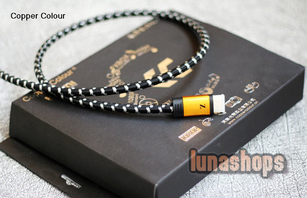 Copper Colour CC Z-1.4HS HDMI 1.4 version Male to Male Cable 1m