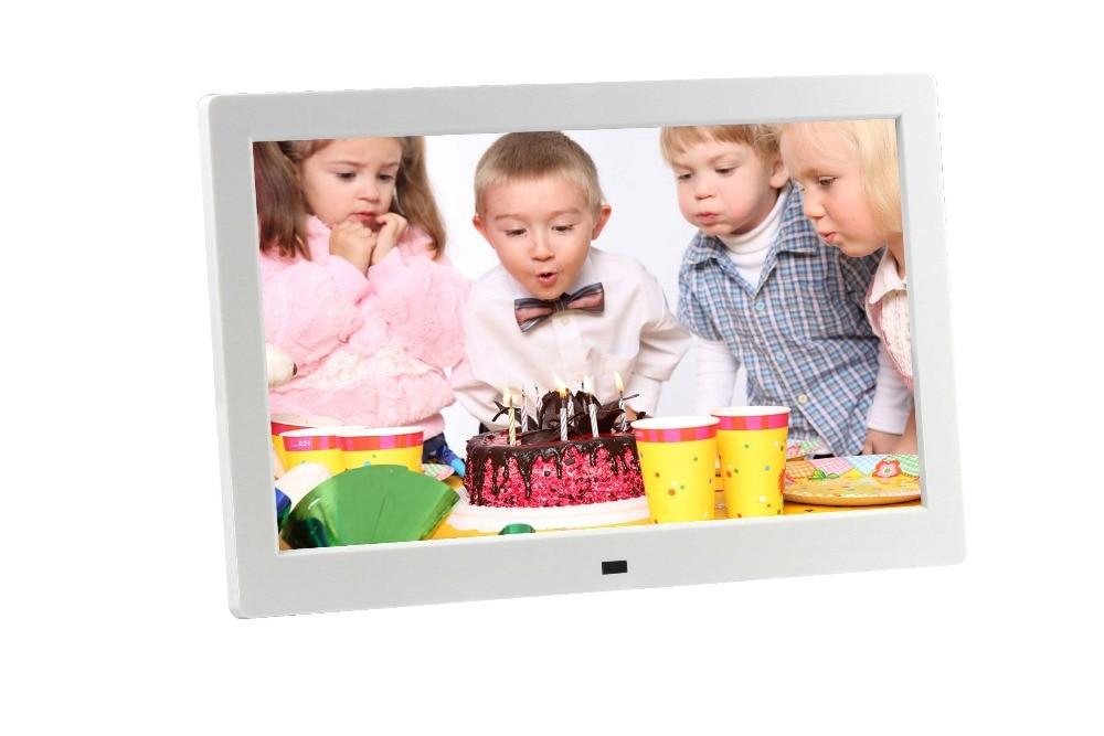 10 inch HD TFT LCD 1024x600 Digital Photo Frame Alarm Clock MP3 MP4 Video Player with Remote Desktop 10 inch ultra thin digital photo frame