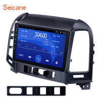 Seicane 2 din Android DVD Player Bluetooth GPS Navigation Radio for 2005 2012 HYUNDAI SANTA FE with WIFI 1024*600 Touchscreen