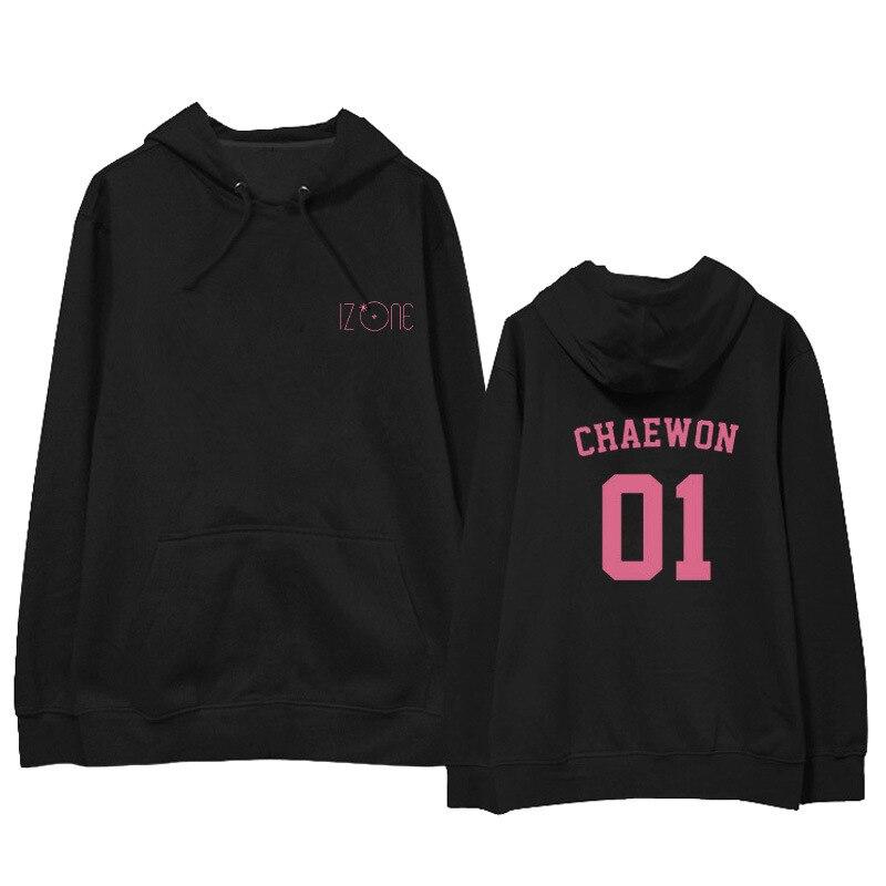 Kpop IZONE Album Hoodie Hip Hop Casual Loose Hooded Clothes Pullover  Printed Long Sleeve Sweatshirts WY878