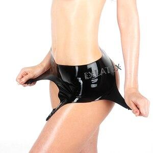 Image 2 - Latex Garter Women Harness bdsm Bondage Black Latex Rubber Garter Suspender Belt with Clips Belt for Stockings