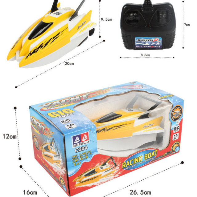 4 channels RC Boats Plastic Electric Remote Control Speed Boat  Twin Motor Kid Chirdren Toy  4