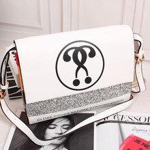 Дизайн моды личности блестками буквы знак вопроса соответствует конверт сцепления сумка женская сумочка сумка сумка