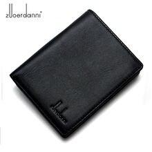 Мужской короткий кожаный кошелек вертикальный мужской бумажник