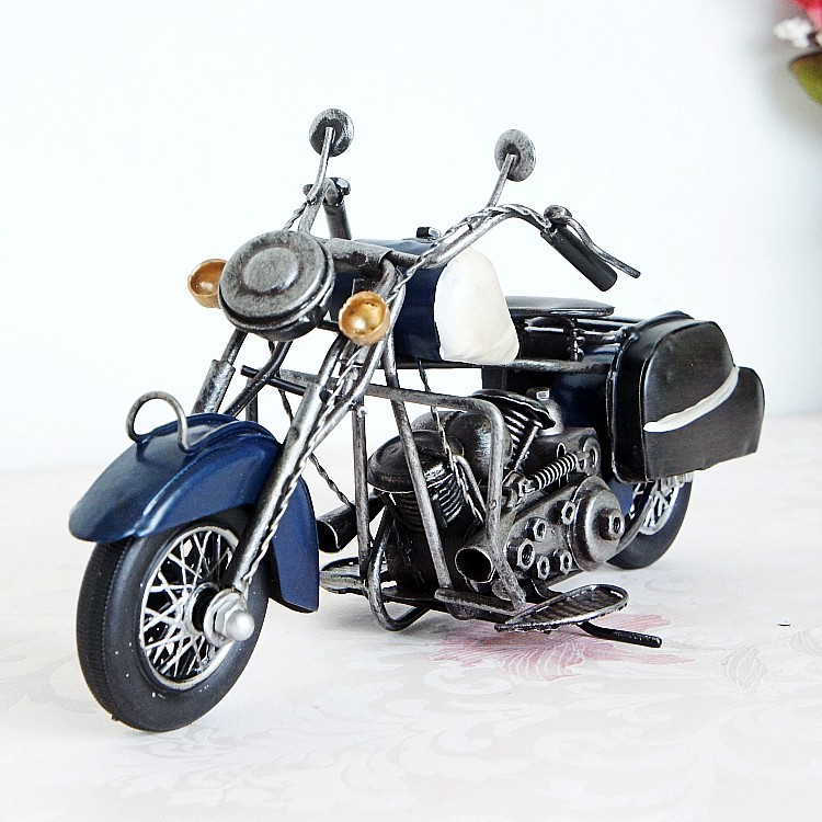 100307 Handmade Iron Motorcycle Model Ornaments Vintage Metal Motorbike Crafts Home /TableDecor Gift retro tinplate metal motocross models collection classic handmade arts and crafts dirt bike model