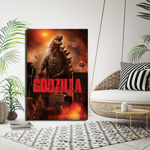 Godzilla Movie Poster Paintings On Canvas Full Scorpion Man Modern Art Decorative Wall Pictures Home Decoration