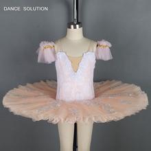 69c204d3aea893 Maken Licht Oranje Stijve Tule Pannenkoek Tutu Ballerina Jurk voor Kind en  Volwassen Solo Dansvoorstelling BLL037A