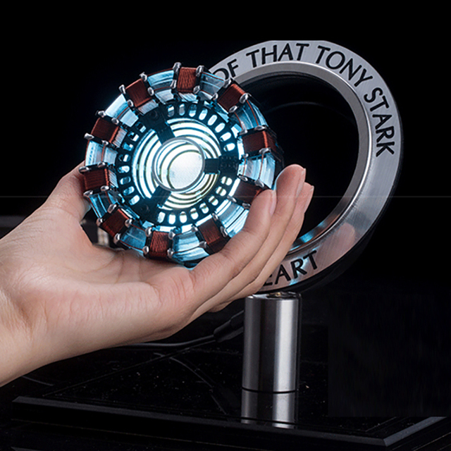 DIY Gift 1:1 Scale Iron Man Arc Reactor Need To Assemble Reactor With LED Light Action Figure Toy Cosplay Accessories Present