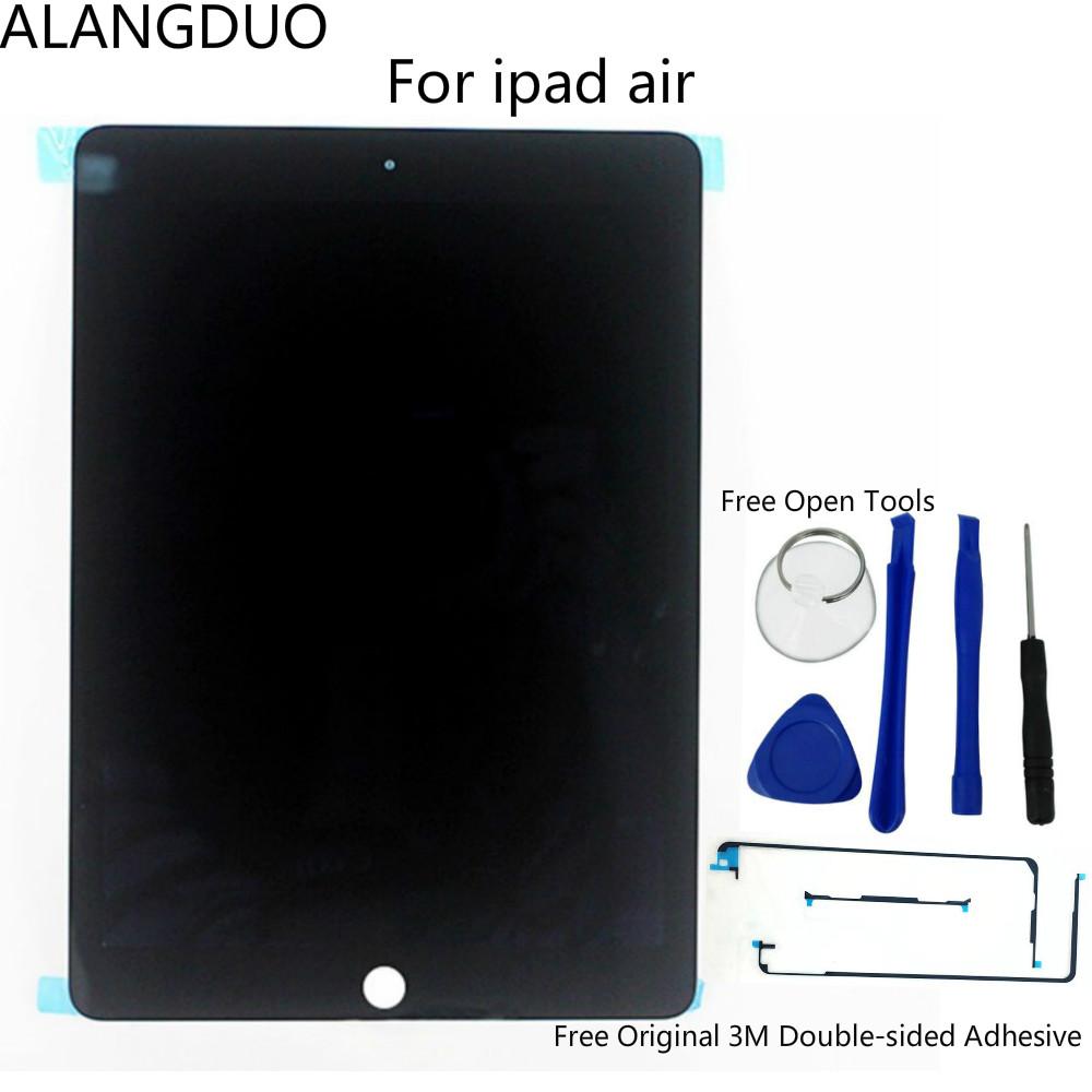 Prix pour ALANGDUO D'origine LCD Écran Pour ipad air 2 A1566 A1567 LCD Affichage Écran Tactile Capteur Digitizer Assemblée Livraison Ouvert Outils et Bande
