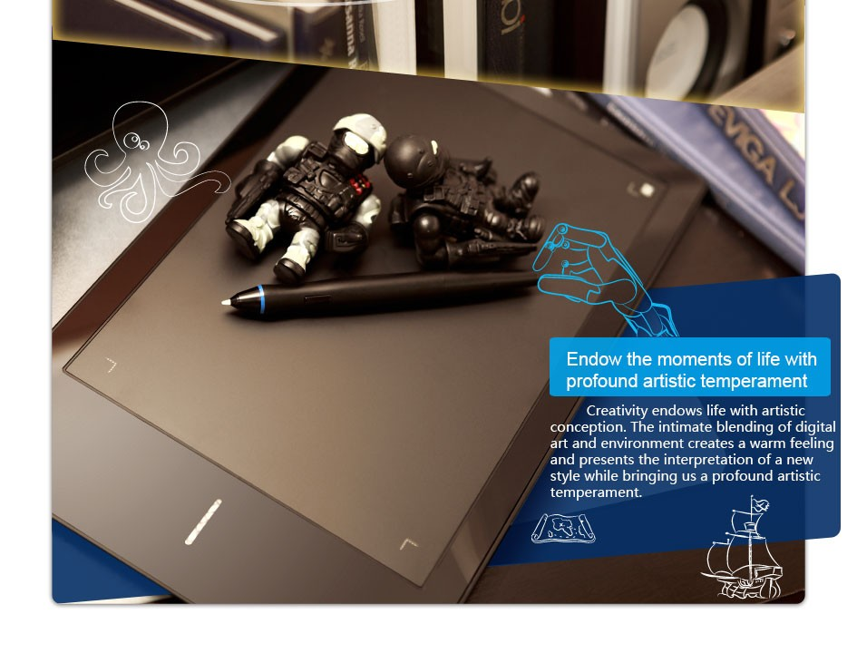 UGEE Digital Tablet G3 9x6 Drawing Graphics With Rechargeable Pen - Black Stylus Sketch Pads digital sketch pad tablet UGEE