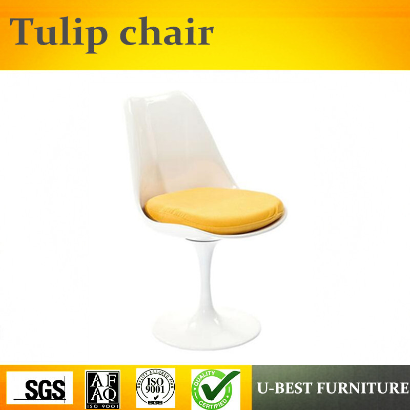 U-BEST Imported luxury modern white fiberglass little tulip chair replica,Tulip Style Dining Room Chair u best modern fiberglass bar chair dining chairs with fabric cushion designer classic tulip dining chair