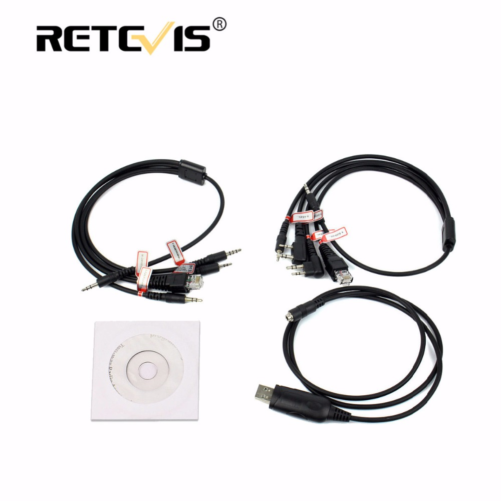 8 in 1 USB Cavo di Programmazione Per Motorola Per Kenwood Baofeng UV 5R UV-Retevis H777 Per ICOM Per YAESU per TYT Walkie Talkie
