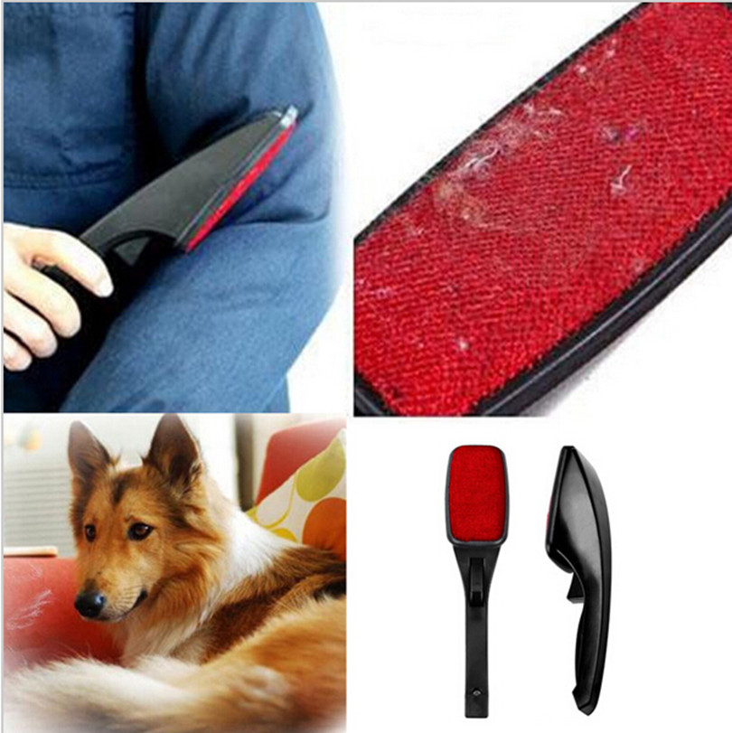 Hot Static Brush Clothes Magic Lint Dust Brush Pet Hair Remover Clothing Cloth Dry Cleaning with Rotatable Brush