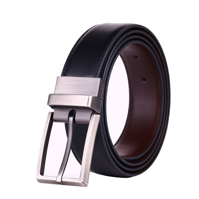 2017 new designer belts men high quality brown smooth Pin Buckle leather belt  genuine luxury leather wholesale masculi BTS906