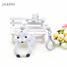 Silicone Baby Pacifier Clips Fox Baby Teether Dummy Clips Eco-friendly Plastic Attache Sucette Infant Baby Pacifier Holder Chain