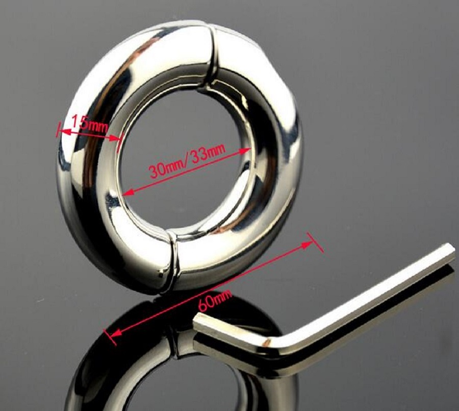 Dia 30/33/40/45/50mm choose Stainless Steel Pendant Ball Stretcher penis Cock ring Metal Slave Sex Toy for Men Scrotum Restraint