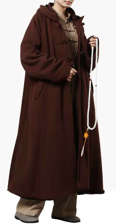 Unisex 4 di cotone di colore meditazione mantello veste zen Caldo Monaco Buddista abiti nun inverno laici artsgown marziali abbigliamento mantello del capo
