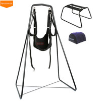 Toughage Luxury Love Sex Swing with Frame & Inflatable Sex Pillow,Hanging Sex Swing Chairs Adult Sex Furniture For Couples