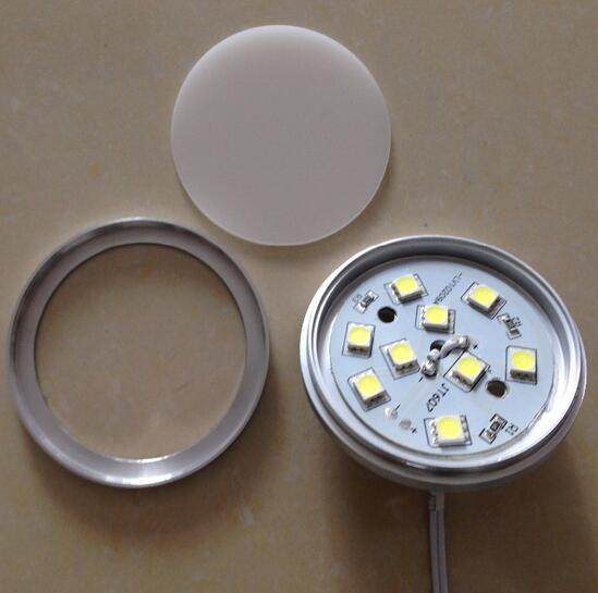 12V 2W Led spotlight spot light 12V 9led smd 5050 down Round closet surface mount wall led kitchen Under Cabinet wardrobe