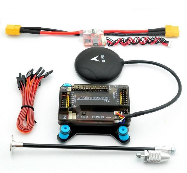 APM 2.8 Vuelo w/Amortiguador + NEO M8N GPS + Power Module XT60 + soporte para FPV multicoper