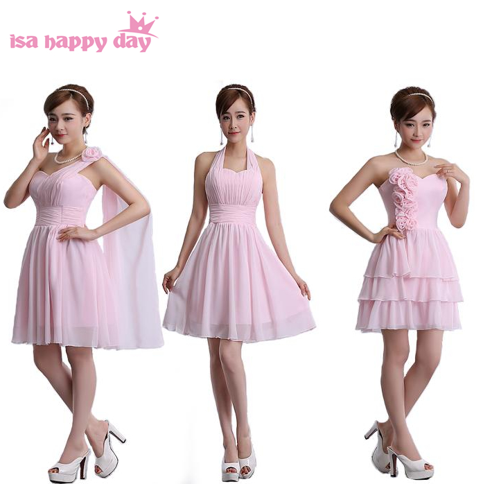 knee length girls bridesmaid womens short light pink one