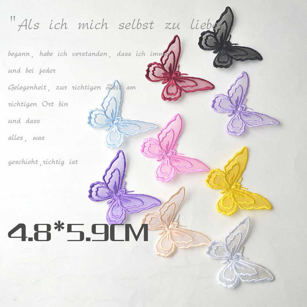 Butterfly Patches For Clothing Embroidery Sew Iron On Patches Fabric Clothes Sticker Applique DIY Ornaments Decorative DIY #or