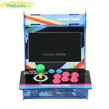 Chơi Game Bartop Arcade Mini Máy Arcade 10.1 Inch Đôi Màn Hình Được Xây Dựng Trong Chiếc Hộp Pandora 3D 9S 1660 Trò Chơi