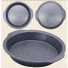 LumiParty Unique Marble Pattern Round Nonstick Shallow Cookie Pan Bakeware Baking Tray for Cooking Cake Pizza Bread-35