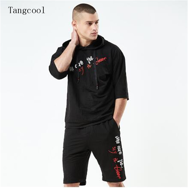 Tang cool 2018 Brand Tracksuit Mens Sets Sportsman Wear Two Piece track Suit For Men Hooded Sweatshirt + Pants ...