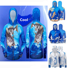 цена на Mens Professional Hiking climbing Clothes Fishing Anti UV Anti mosquit Breathable Quick-drying homme Hooded Fishing Shirt 4XL M