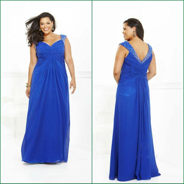 2014 Hot Sale Elegant Royal Blue Beaded A line Turkish Ebay Evening ...