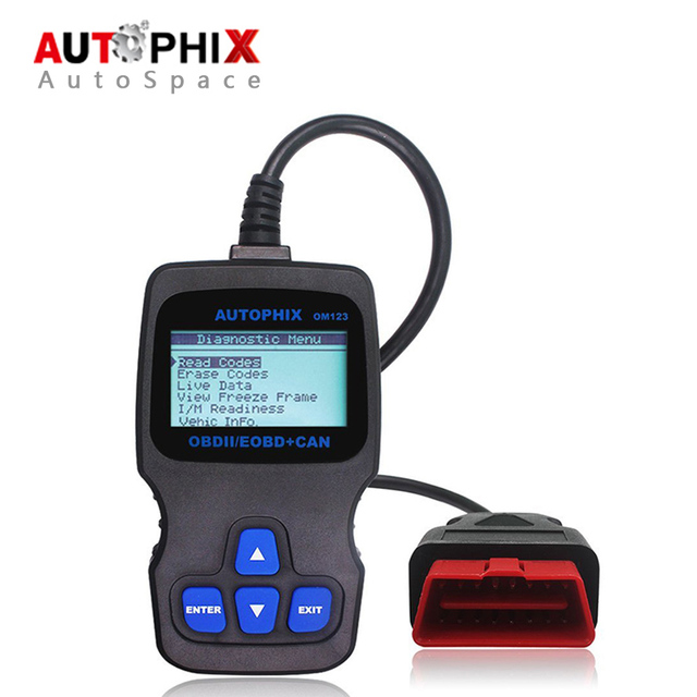 New Autophix OBDMATE OM123 Universal OBDII Car Diagnostic Tool OBD2 Error Code Scanner Read Erase OBD 2 OM-123 Like AD310 VS890