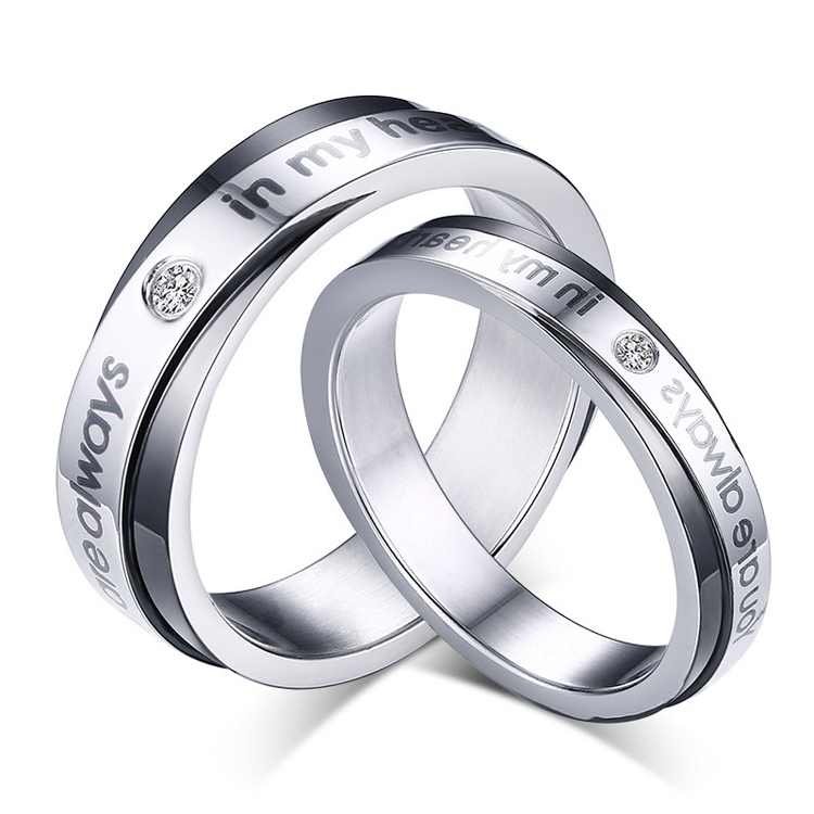Silver And Black Couple Wedding Rings Newest Design Couple Rings For