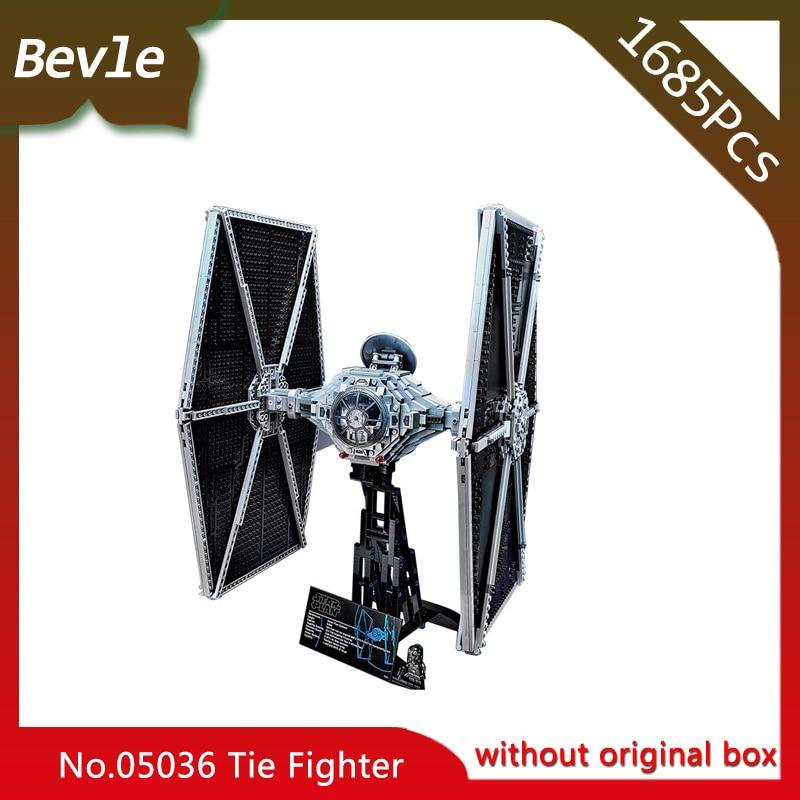 все цены на Bevle Store LEPIN 05036 1685Pcs Star Wars Series UCS Titanium Fighter Model Building Blocks  Bricks For Children Toys 75095 Gift