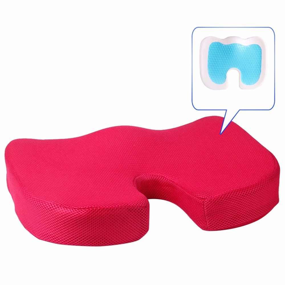 U 字型美しいバットゲルクッションゲル強化シートクッション-ノンスリップ整形外科ジェル & 低反発尾骨クッション @ 15