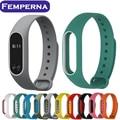 Para mi banda 2 correa de silicona de colores correa de pulsera smartband correa de repuesto para xiaomi miband pulsera doble del color 2