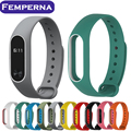 Para mi banda 2 strap colorido silicone wrist strap pulseira de substituição para xiaomi miband pulseira smartband dupla cor 2